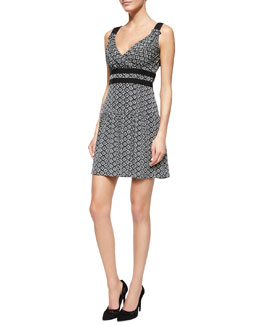 Dot Diamond Sleeveless Dress