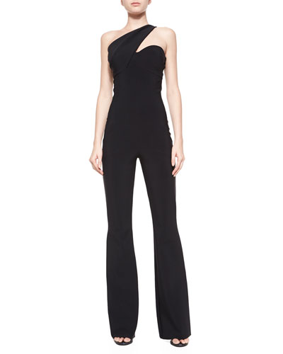 Venere One-Shoulder Jumpsuit W/ Pockets