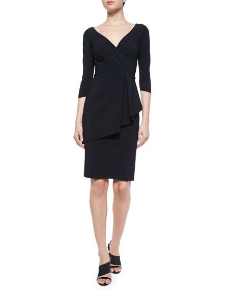 a0ae81ffa53 Chiara Boni La Petite Robe Stellina Peplum-Front Sheath Dress
