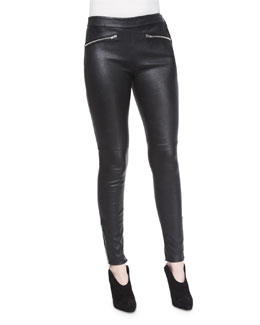 Lambskin Leather Leggings