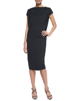 Shirley Short-Sleeve Midi Dress
