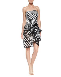 Illusion Stripe Pareo Coverup