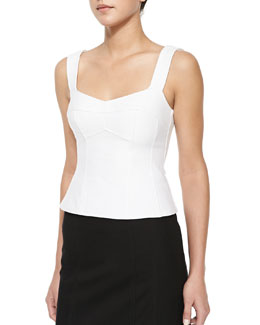 Tempter Corset Top with Sweetheart Neckline, White