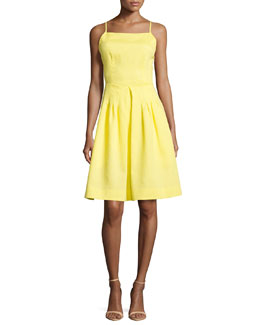 Brigitte Crisscross-Back Dress, Sunburst