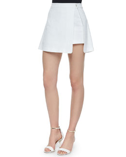 Cafe Parfait Skort W/ Open Side, White