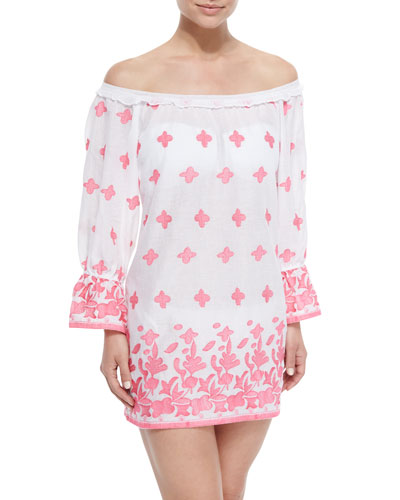 Josie Printed Off-the-Shoulder Coverup