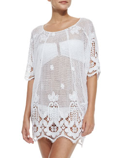Jessica Sheer Scalloped Caftan