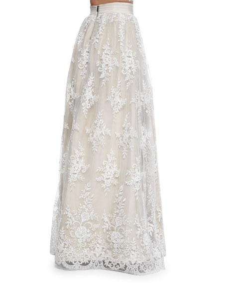 773839d7ffee Alice + Olivia Carter Flared Embroidered Ball Skirt