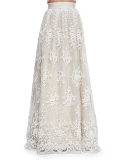 Carter Flared Embroidered Ball Skirt