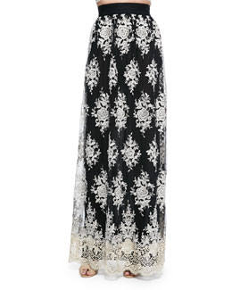 Brent Embroidered Maxi Skirt