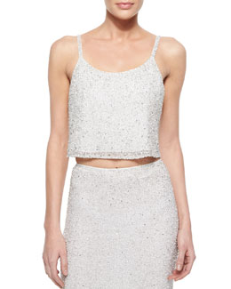 Dallas Sleeveless Sequined Tank