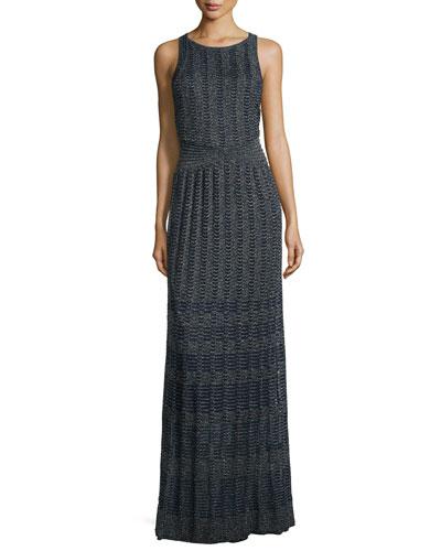 Sleeveless Lurex® Maxi Dress