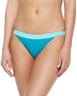 Edie Colorblock Swim Bottom, Painted Teal/Multi