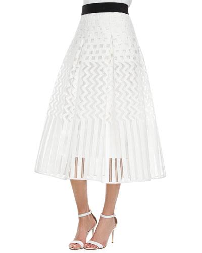 Geometric Ball Skirt, White