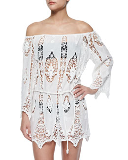 Bridgette Crochet Coverup Dress