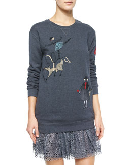 Circus Embroidered Sweatshirt