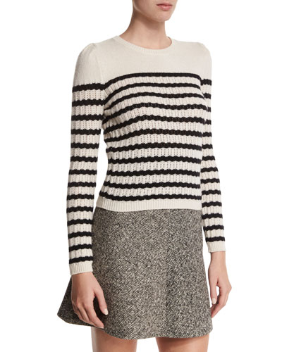 Striped Perforated Sweater