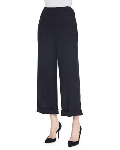 High-Waist Cuffed Pants