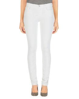 Skinny Mid-Rise Rail Jeans, Blanc