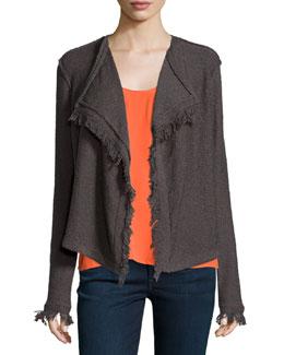 Nalah B Boucle Knit Jacket, Charcoal