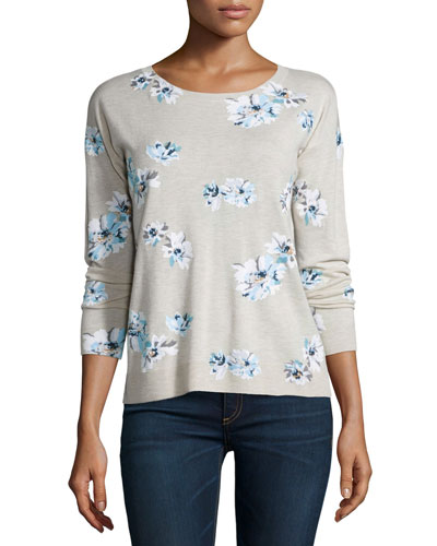 Eloisa Floral-Print Sweater