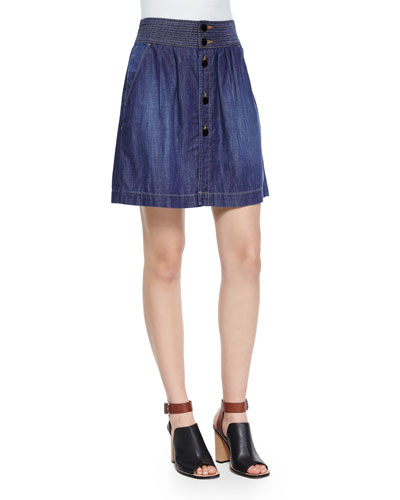 Le Tulip Denim Skirt, Davies