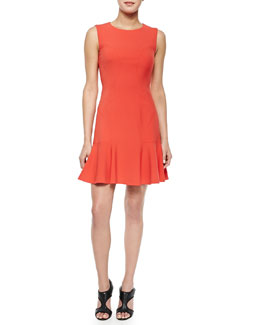 Jaelyn Flare-Hem Sleeveless Dress