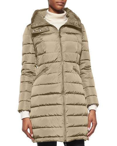 Flammette High-Neck Puffer Coat