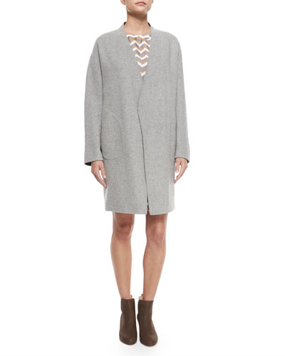 Singer Bemberg® Cupro Coat, Light Gray