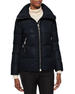 Joux High-Neck Puffer Jacket, Navy