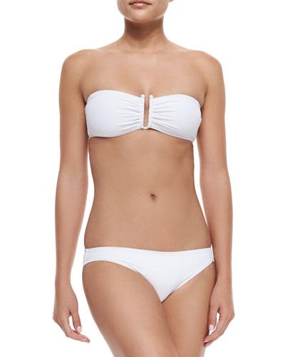 Bandeau Bikini Set, White