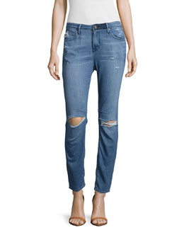 Ryder Distressed Straight-Leg Jeans, Vintage Classic