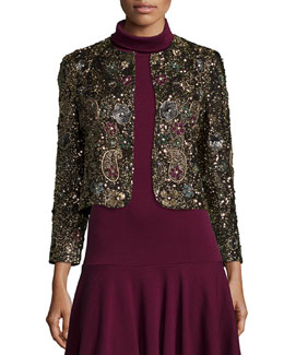 Kidman Beaded Long-Sleeve Jacket