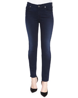 Mid Rise Skinny Jeans, Slim Illusion Luxe Rich Blue