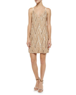 Avalon Chevron Beaded Dress