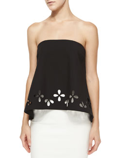 Alva Strapless Ponte Top, Black