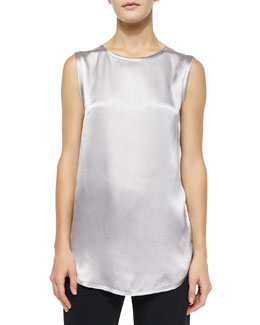 Satin High-Low Tank