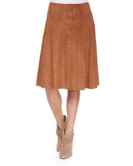 Mylon Suede Skirt
