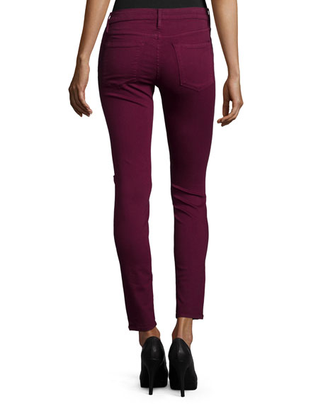 Le Color Rip Skinny Distressed Jeans, Port