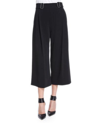 Beals Belted Gaucho Pants, Black
