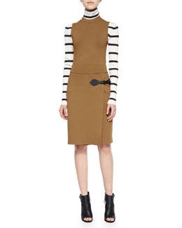 Ryan Sleeveless Wrap-Skirt Dress