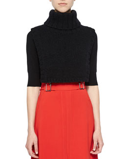 Brandt Knit Turtleneck Dickie, Black