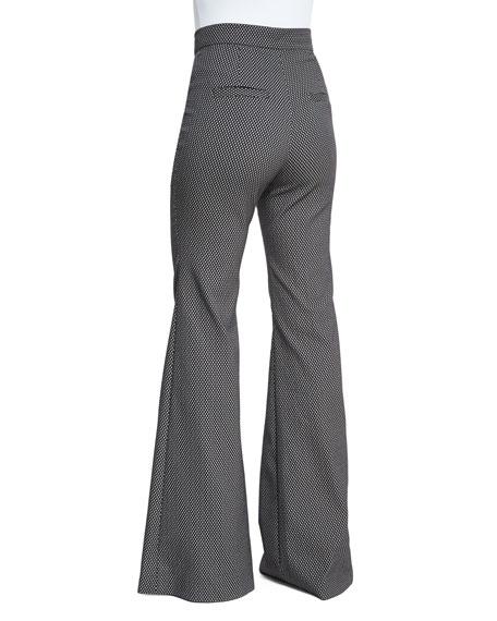 Jacinta High-Waist Flare Pants, Coal