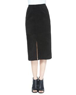 The Ortiz Suede Skirt, Super Black
