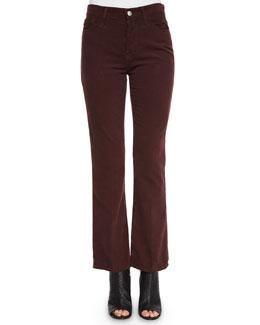 Revolution Boot-Cut Velvet Pants, Sulfur Fig