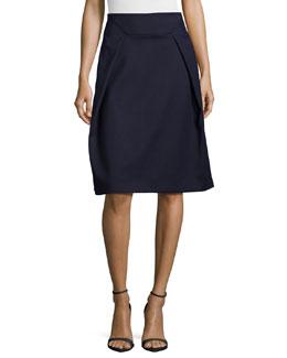Nanook Pleated A-Line Skirt, Navy