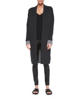 Armelle Evian Stretch Cardigan, Dark Charcoal/Light Charcoal