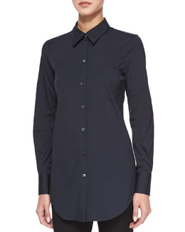 Robertson Long-Sleeve Button-Front Top