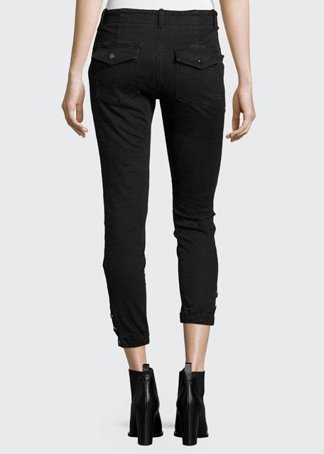 Field Cargo Cropped Pants, Dark Gray