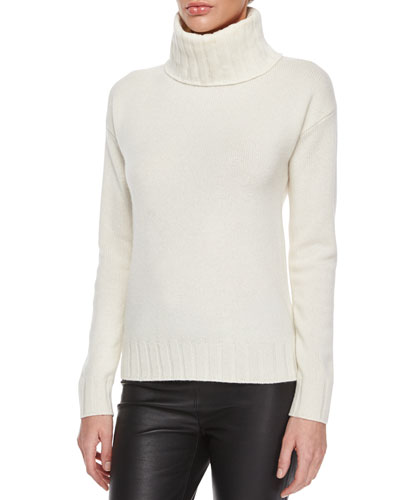Lanola Ribbed Cashmere Turtleneck Sweater